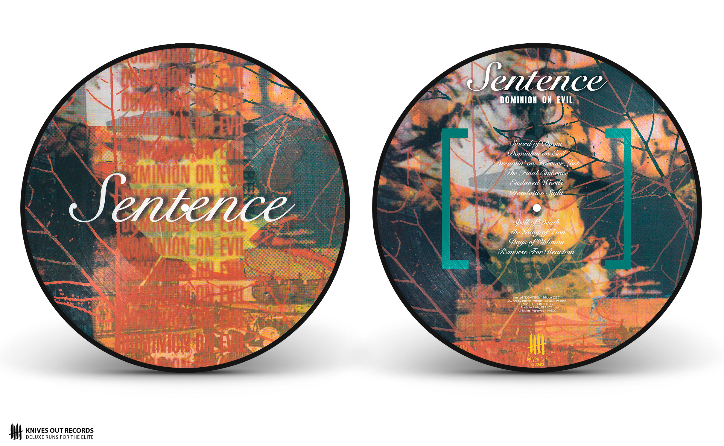 SENTENCE Dominion on Evil Picture Disc Vinyl