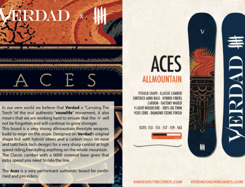 Knives Out records x Verdad Snowboards