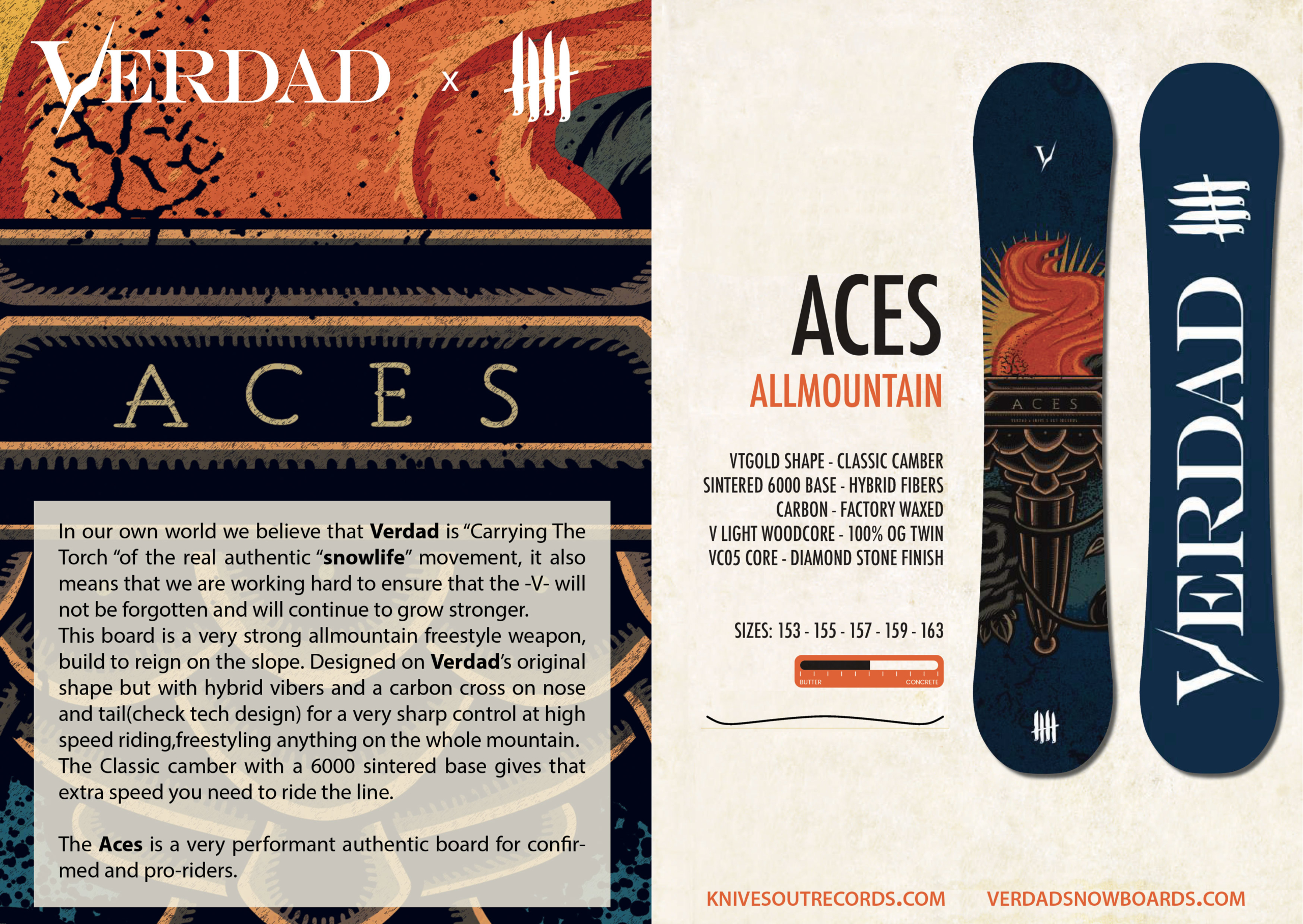 "Knives Out records x Verdad snowboards ""Aces"" limited series"