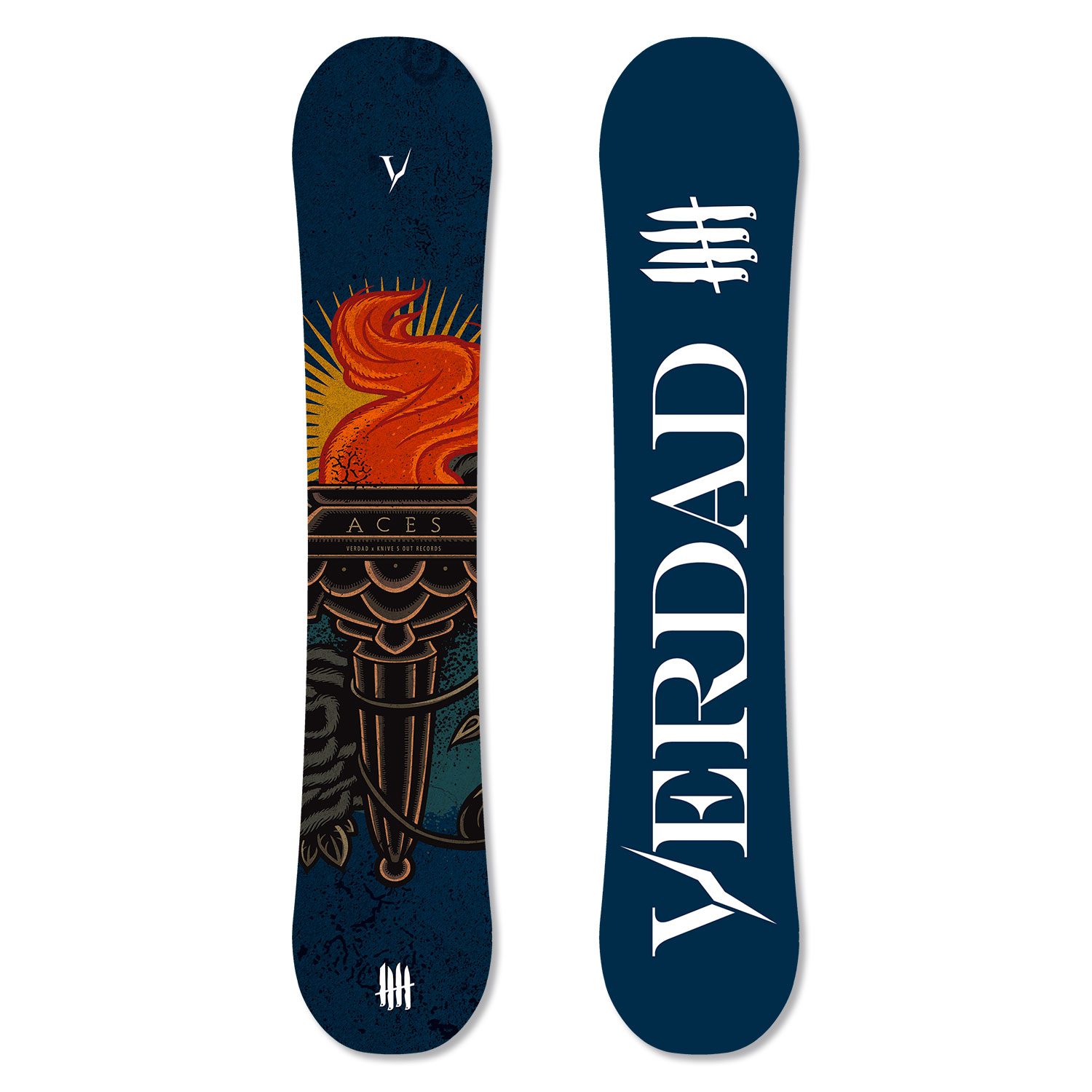 """Knives Out records x Verdad snowboards """"Aces"""" limited series"""
