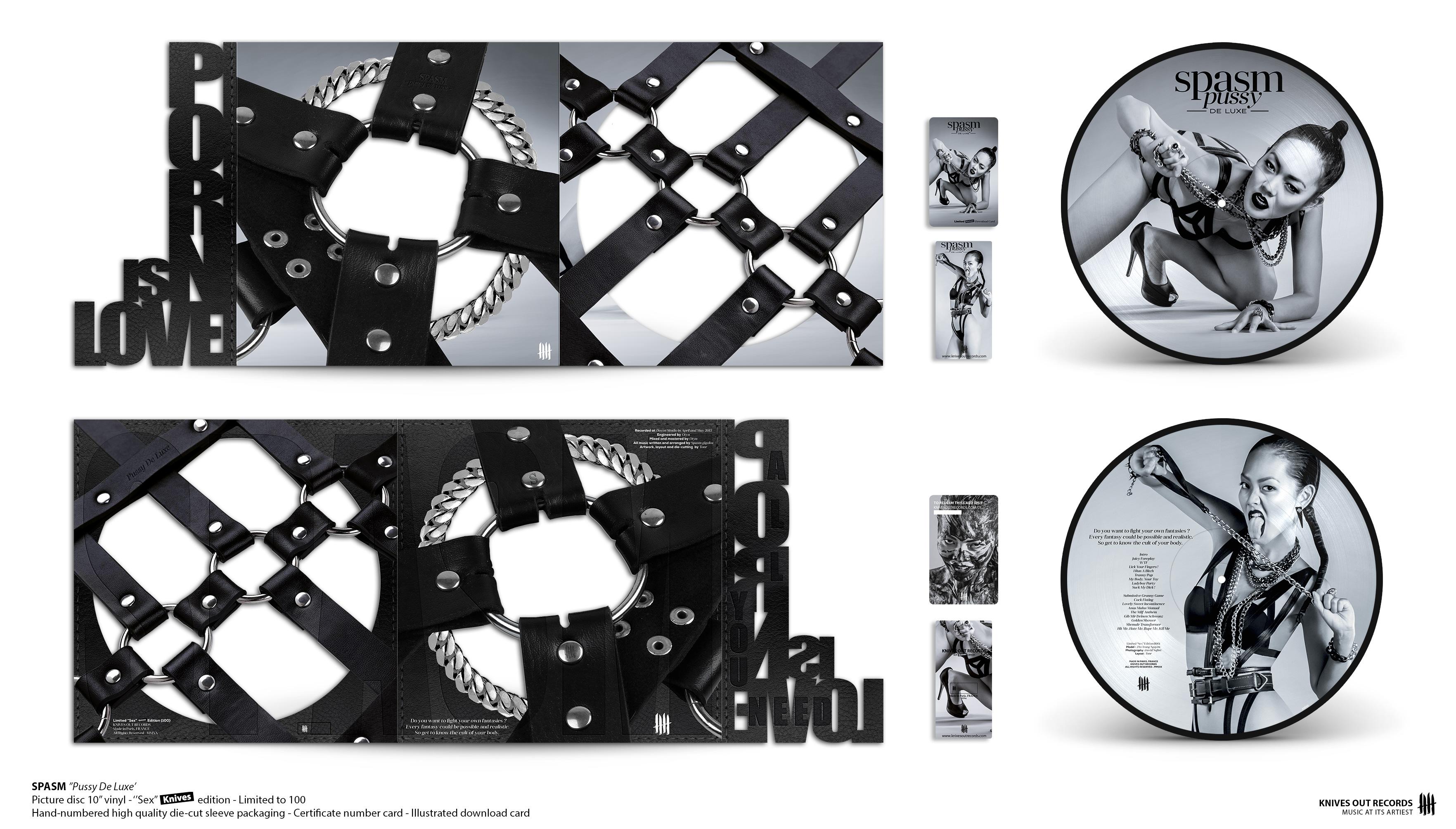 """SPASM Pussy De Luxe Double Picture Disc 10"""" Vinyl Edition"""