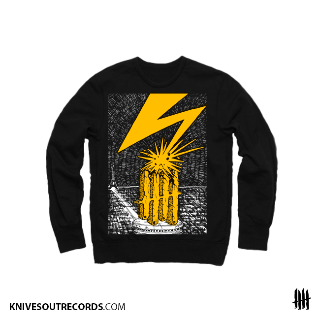 Knives Out records x Bad Brains tribute crewneck sweat