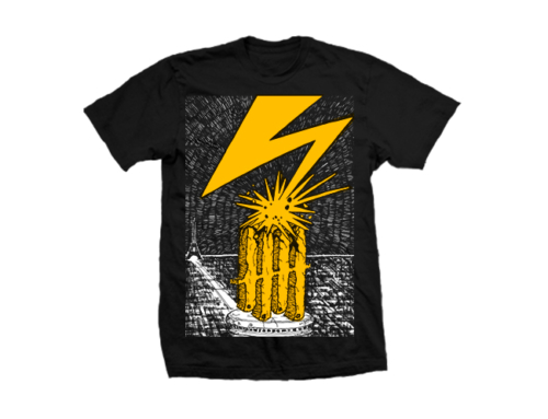 Knives Out records x Bad Brains tribute shirt
