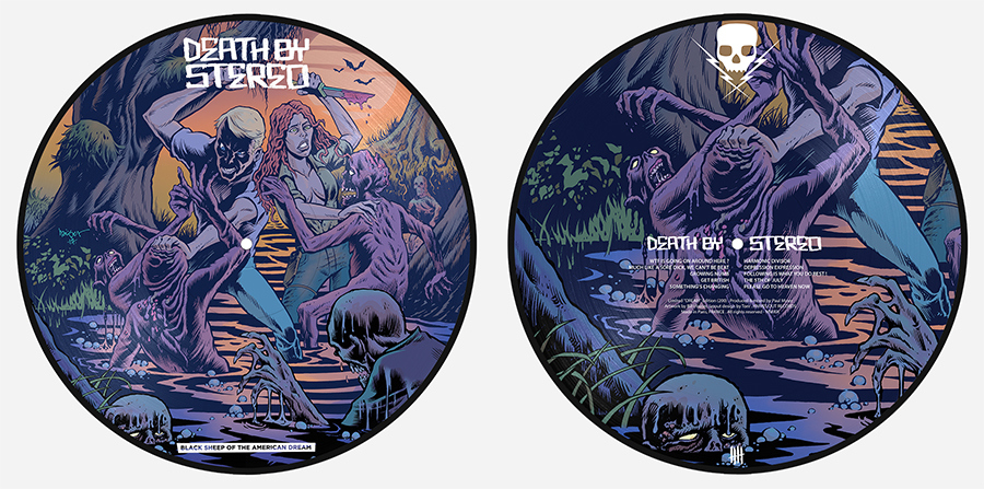 DEATH BY STEREO Black Sheep Of The American Dream Double Picture Disc Vinyl Edition