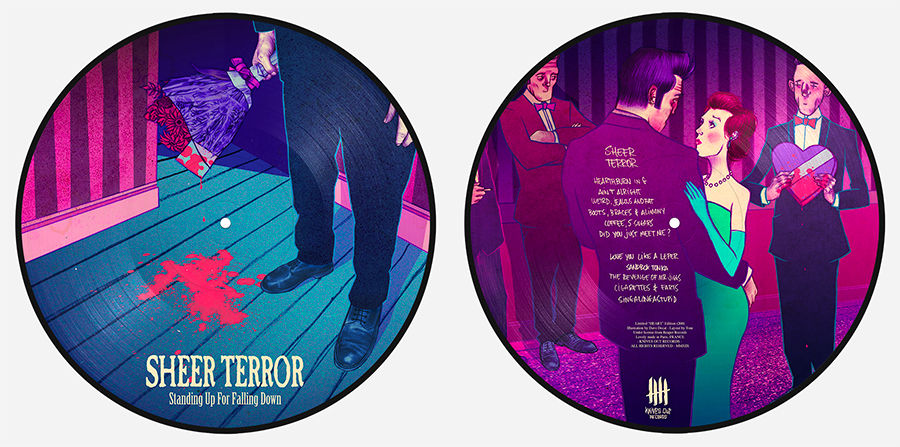 SHEER TERROR Standing Up For Falling Down picture disc vinyl
