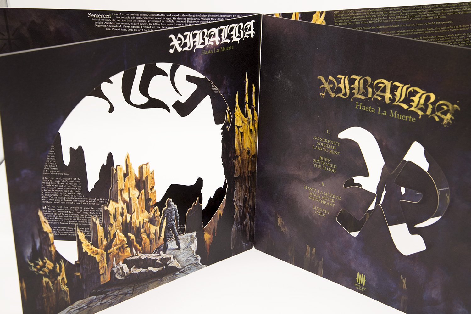 "XIBALBA Hasta La Muerte Double Picture Disc 12"" Vinyl - Metnal KNIVES Edition"