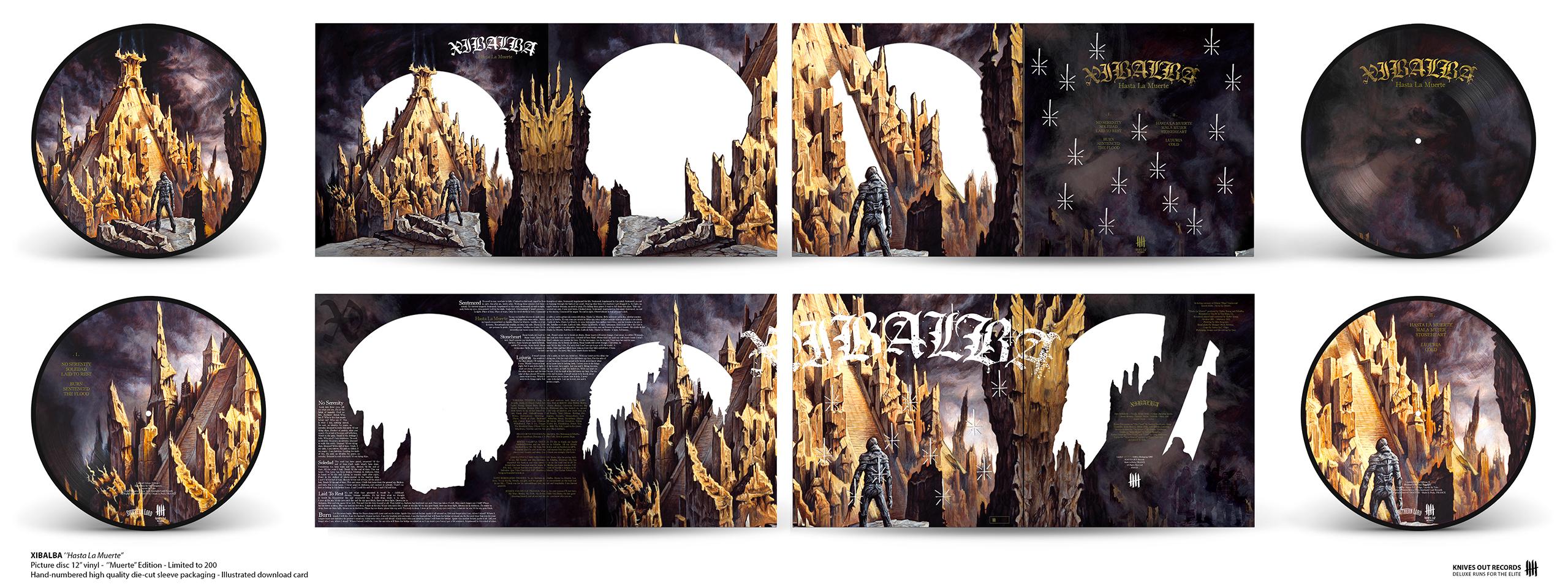 "XIBALBA Hasta La Muerte Double Picture Disc 12"" vinyl - Muerte KNIVES Edition"