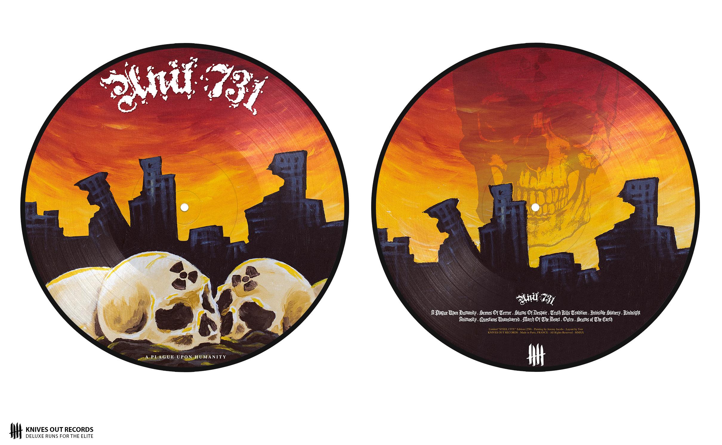 "UNIT 731 ""A Plague Upon Humanity"" Picture Disc 12"" Vinyl"
