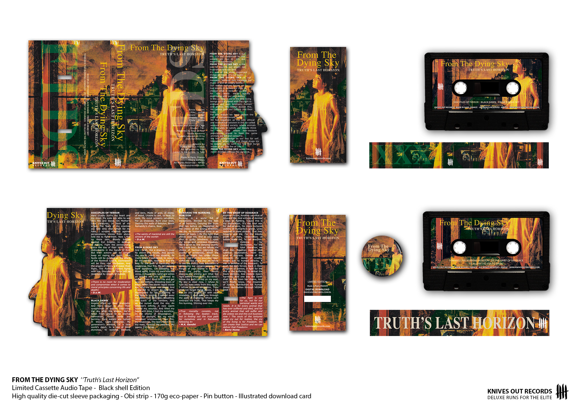 "FROM THE DYING SKY ""Truth's Last Horizon"" cassette audio tape"