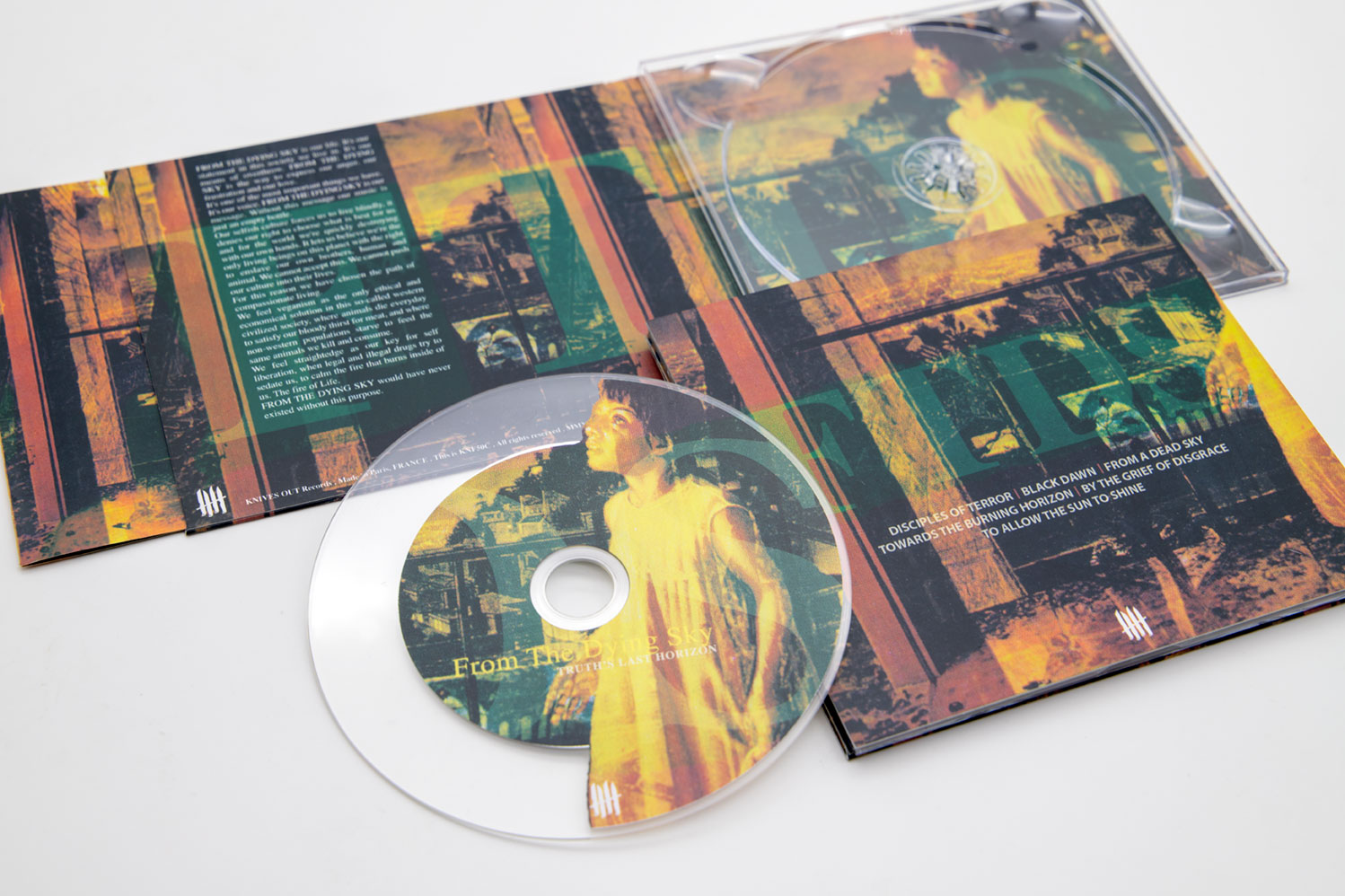 "FROM THE DYING SKY ""Truth's Last Horizon"" Deluxe Digipack clear CD"