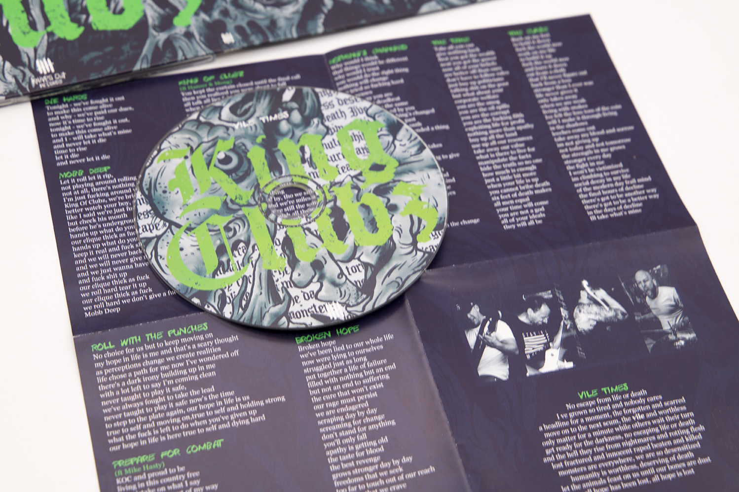 "KING OF CLUBZ ""Vile Times"" Digipack CD"