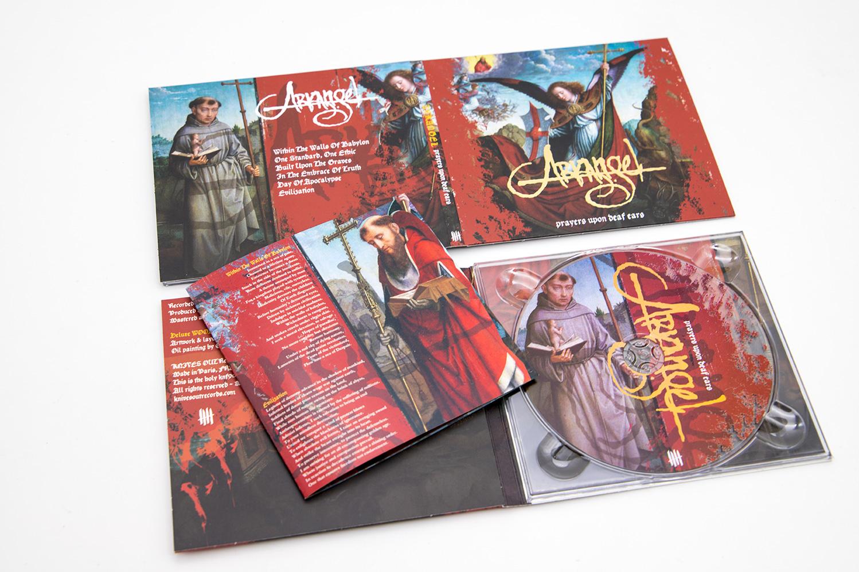 "ARKANGEL ""Prayers Upon Deaf Ears"" Deluxe Digipack clear CD"