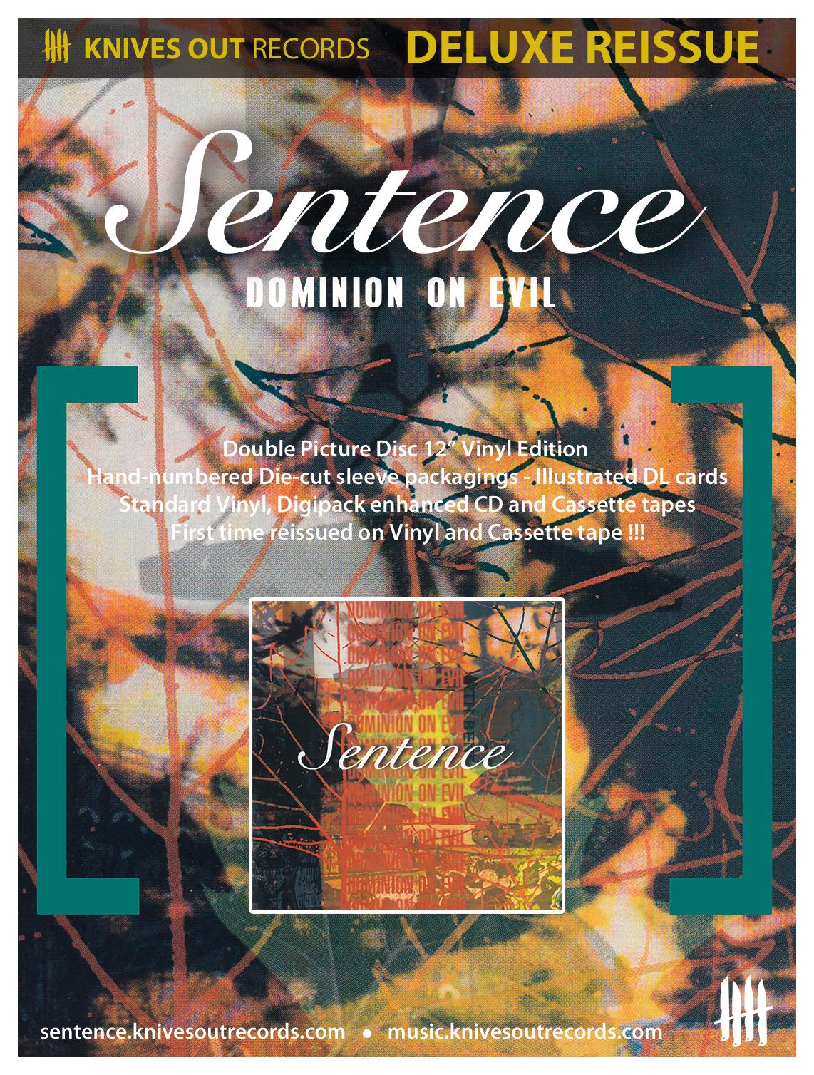"""SENTENCE """"Dominion On evil"""" Full deluxe reissue"""