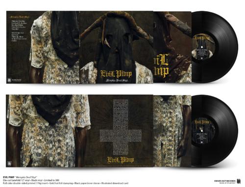 """EVIL PIMP """"Memphis Devil Shyt"""" die-cut Gatefold 12″ vinyl • Black Edition"""