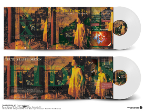 "FROM THE DYING SKY ""Truth's Last Horizon"" die-cut Gatefold 10″ Vinyl • White Edition"