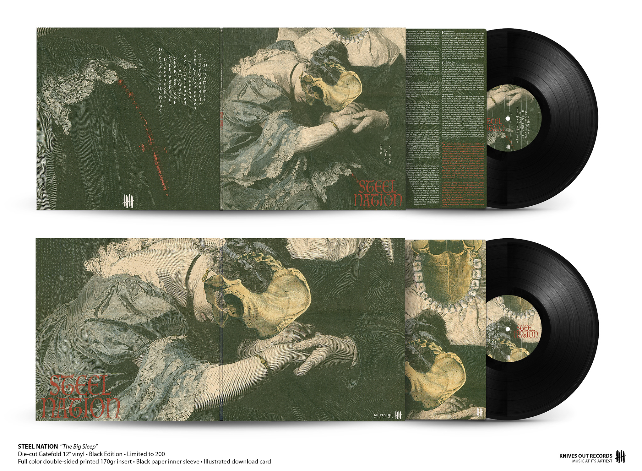 "STEEL NATION ""The Big Sleep"" die-cut 12"" Gatefold"