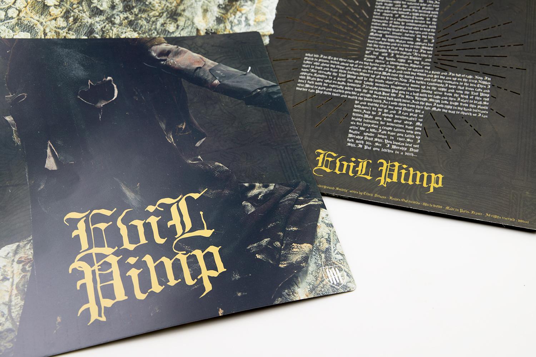 """EVIL PIMP """"Memphis Devil Shyt"""" die-cut 12"""" Gatefold"""