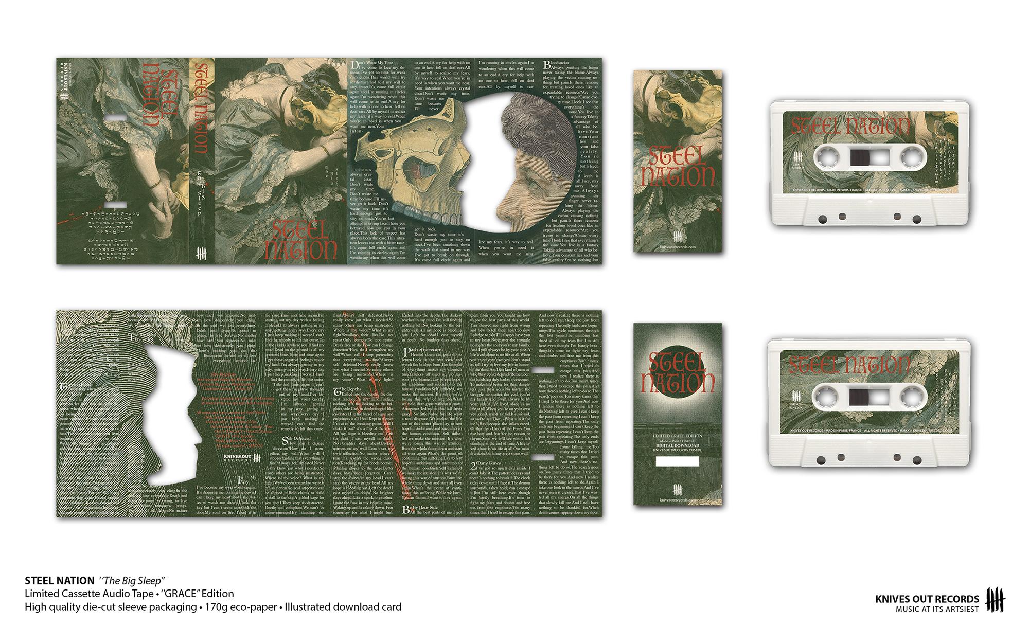 """STEEL NATION """"The Big Sleep"""" cassette audio tape"""