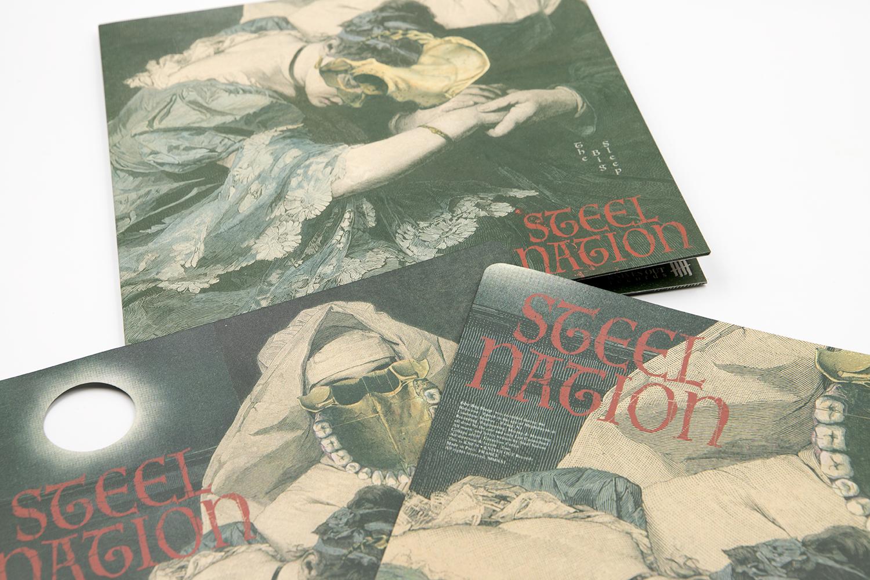 """STEEL NATION """"The Big Sleep"""" die-cut 12"""" Gatefold"""