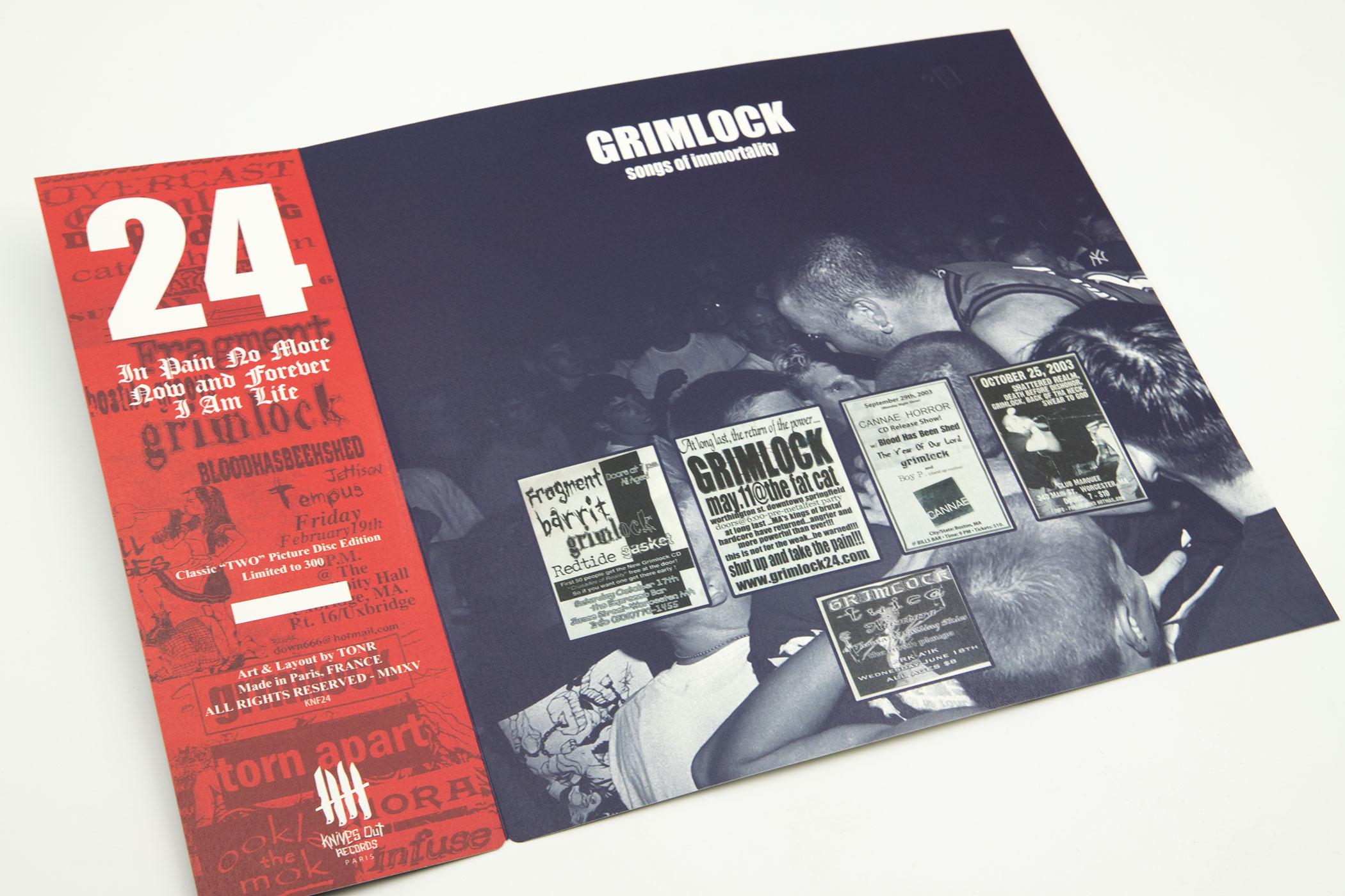 "GRIMLOCK ""Songs Of Immortality"" Picture Disc 12"" Vinyl"