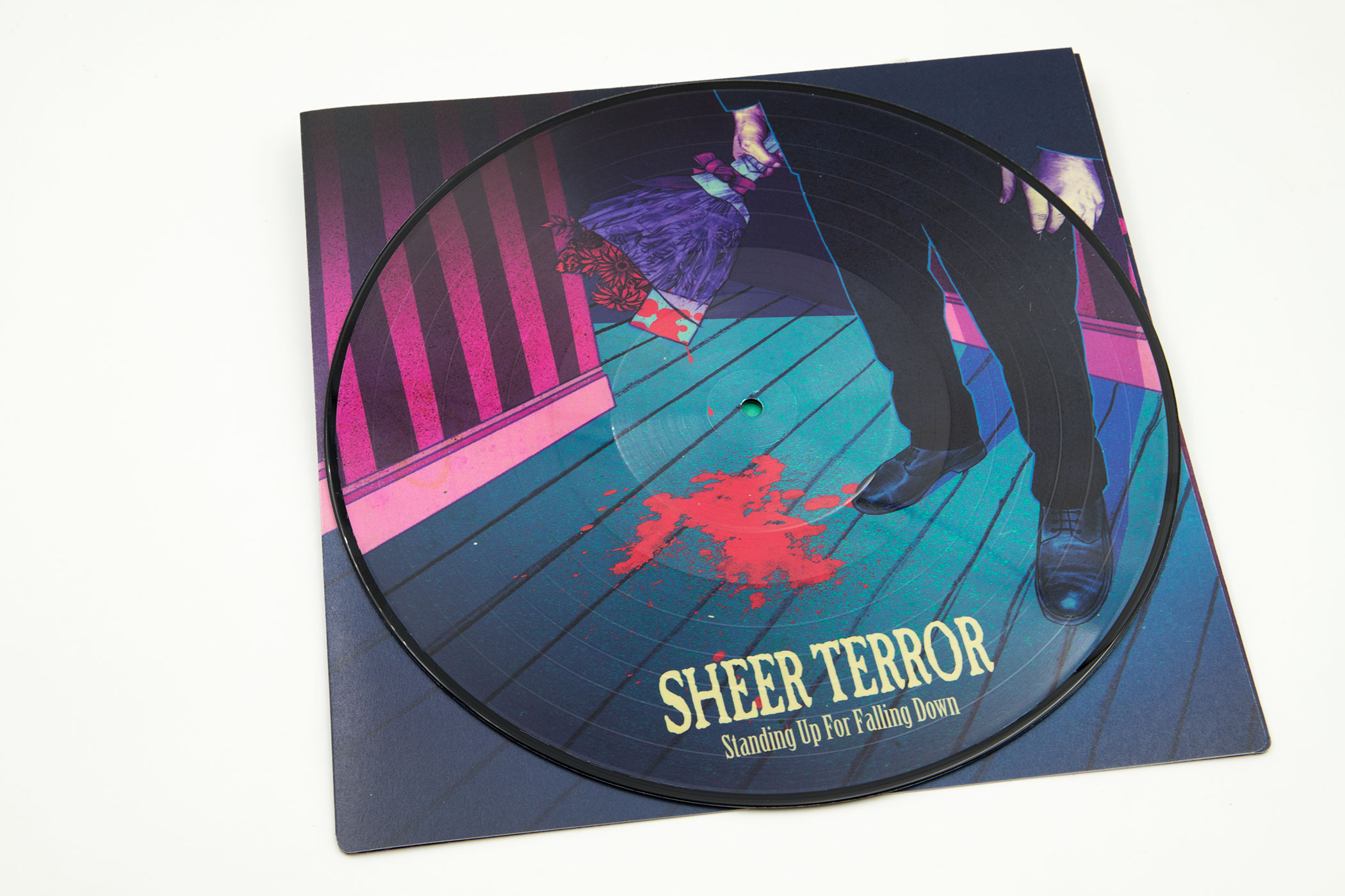 """SHEER TERROR """"Standing Up For Falling Down"""" Triple Picture Disc Vinyl Edition"""