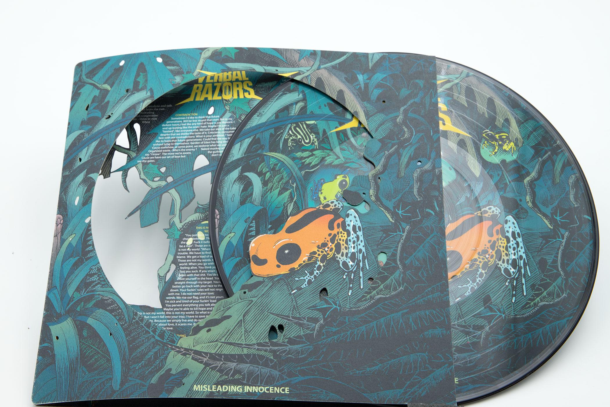 """VERBAL RAZORS """"Misleading Innocence"""" Picture Disc 10"""" Vinyl"""