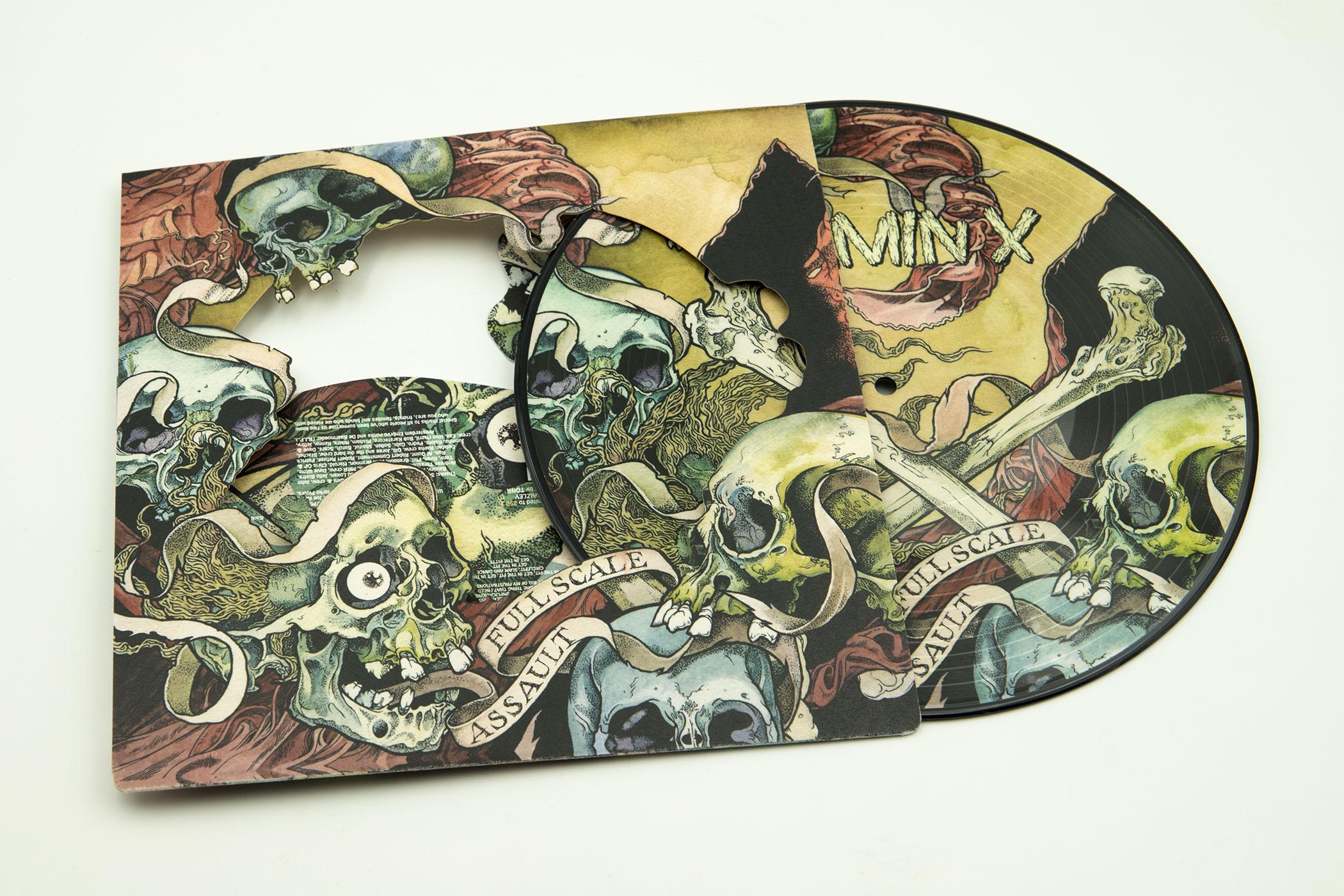 "VITAMIN X ""Full Scale Assault"" Picture Disc 10"" Vinyl"